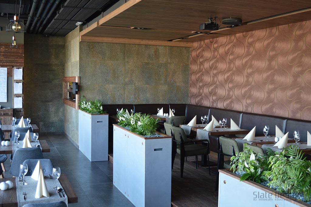 Bazaar Eclectica Étterem - kőburkolat, falburkolat kőből