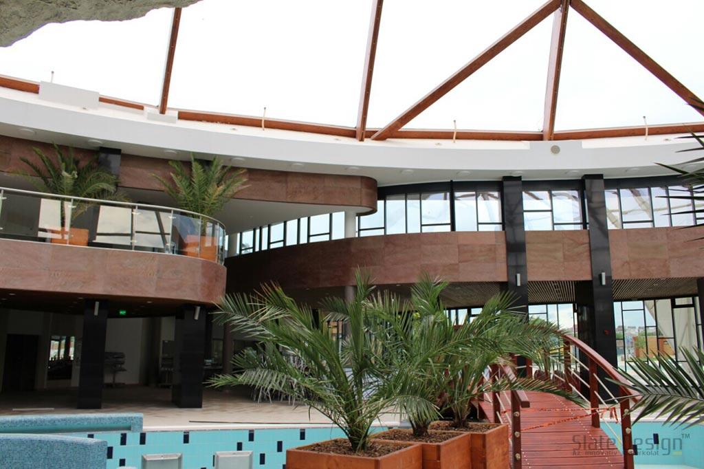 Nymphae Aquapark kőburkolat, oszlopburkolat, kupolaburkolat