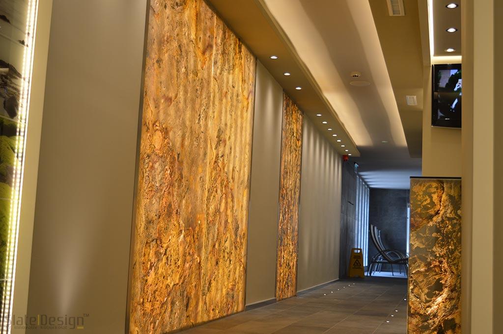 Bonvital Wellness & Gastro Hotel - átvilágítható kőfurnér falak