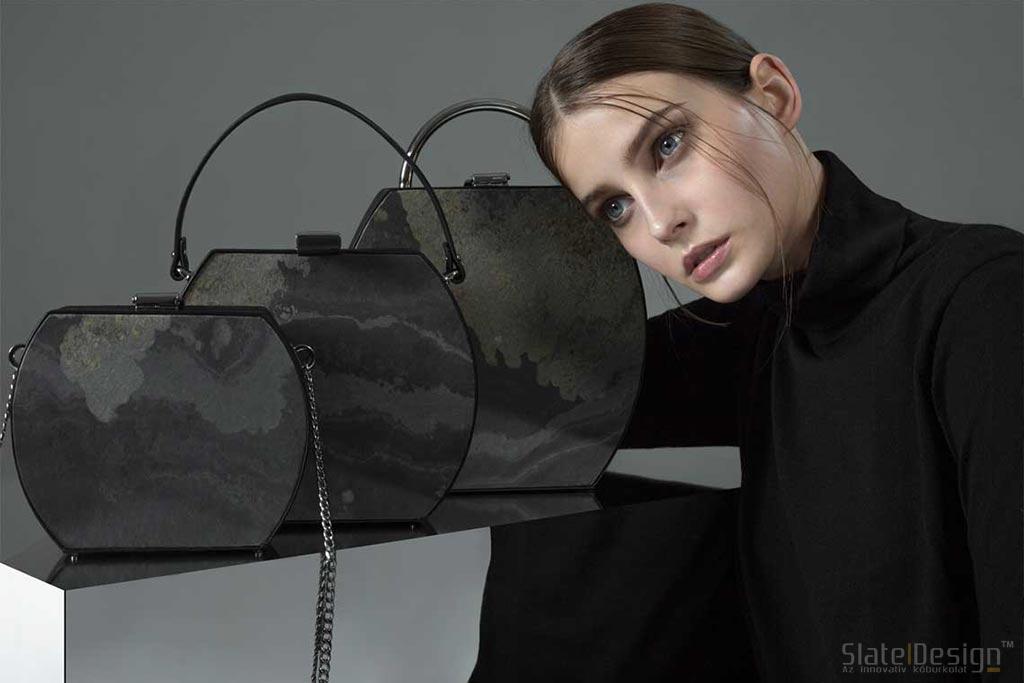 Hajlítható kőfurnérból készült táska
