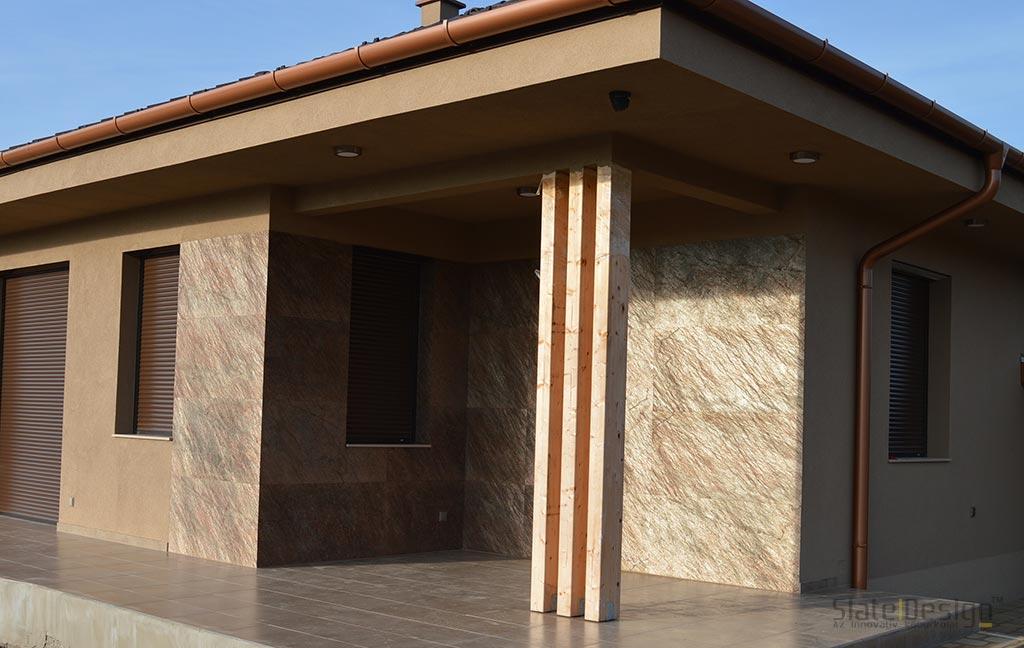 Szadai családi ház - kő homlokzatburkolat