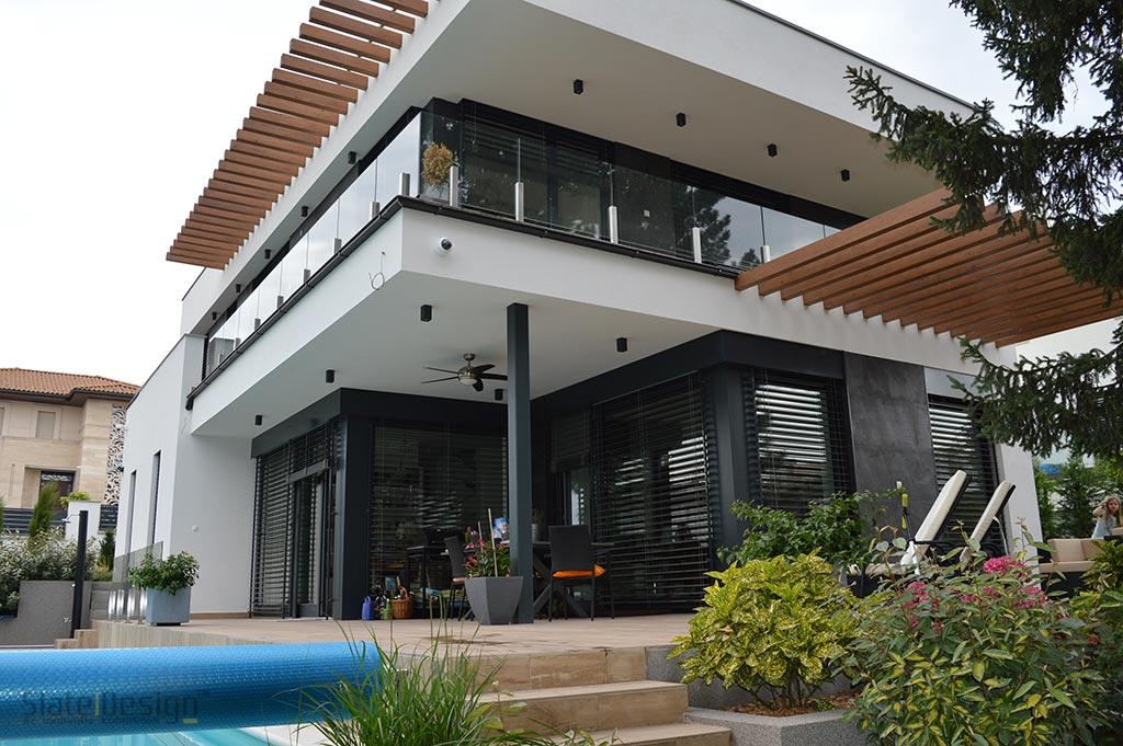 Budai családi ház homlokzati kőborítás