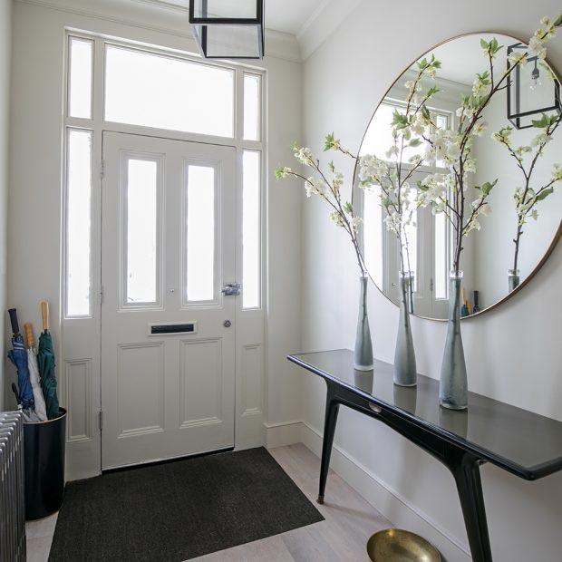előszoba dizájn, dekoráció, tükör