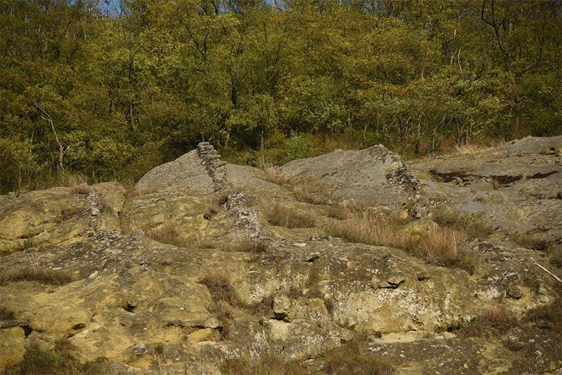 Istenmezeje homokkő szikla